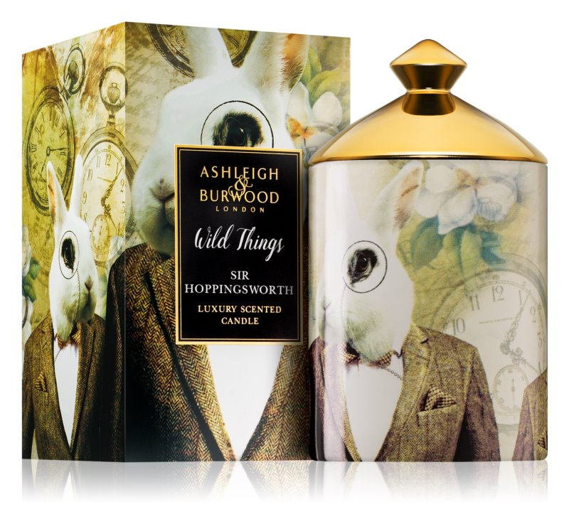 Ashleigh & Burwood London Wild Things Sir Hoppingsworth Scented Candle 320 g  (Cognac & Leather)