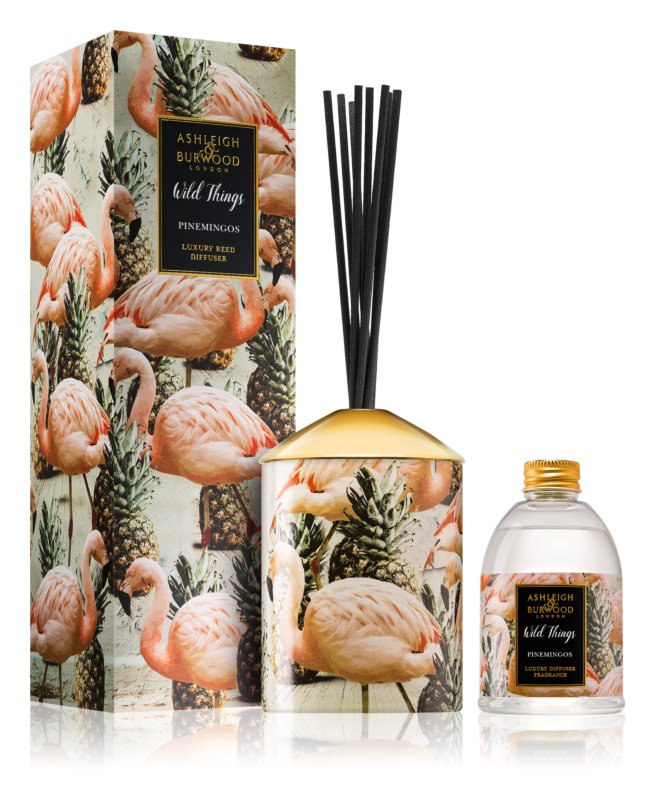 Ashleigh & Burwood London Wild Things Pinemingos Aroma Diffuser met vulling 200 ml  (Coconut & Lychee)