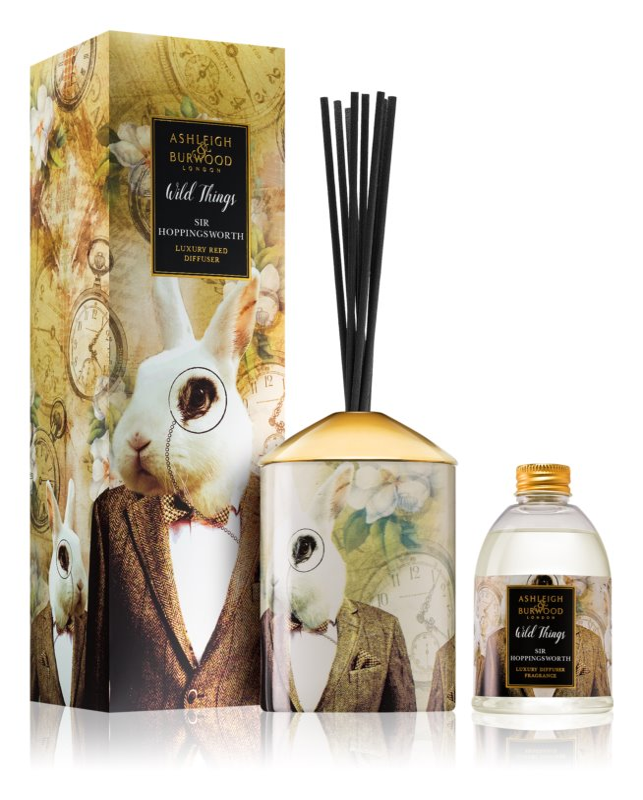 Ashleigh & Burwood London Wild Things Sir Hoppingsworth diffuseur d'huiles essentielles avec recharge 200 ml  (Cognac & Leather)