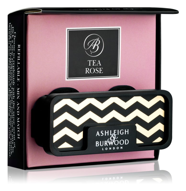 Ashleigh & Burwood London Car Tea Rose Auto luchtverfrisser    Clip