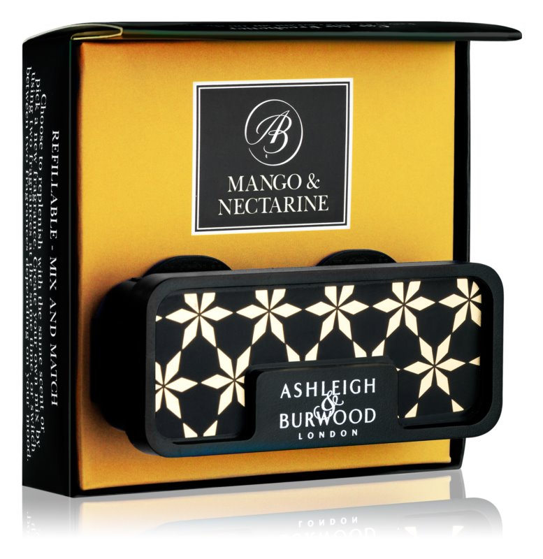 Ashleigh & Burwood London Car Mango & Nectarine Car Air Freshener   Clip