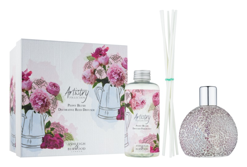 Ashleigh & Burwood London Artistry Collection Peony Blush Aroma Diffuser With Refill 180 ml