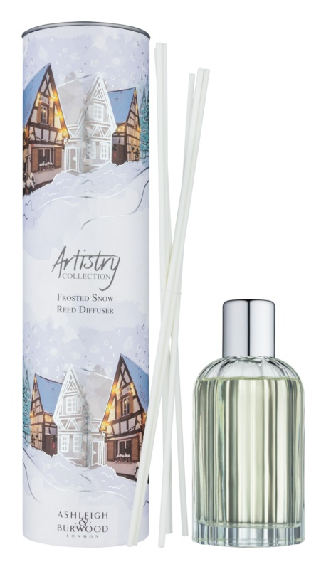 Ashleigh & Burwood London Artistry Collection Frosted Snow Aroma Diffuser With Refill 200 ml