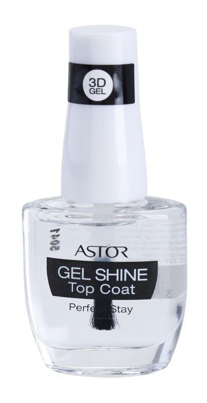 Astor Perfect Stay 3D Gel Shine Lac pentru protejarea ojei cu efect de stralucire