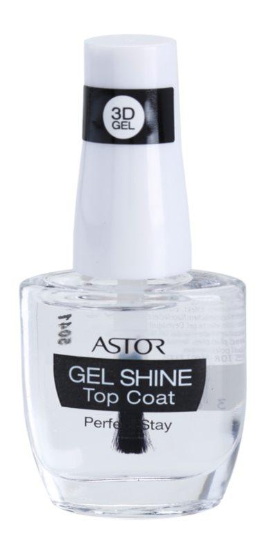 Astor Perfect Stay 3D Gel Shine vrchní ochranný lak na nehty s leskem