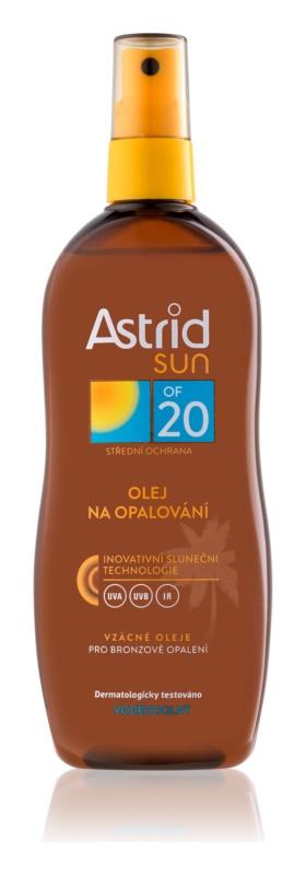 Astrid Sun ulei spray pentru bronzare SPF 20