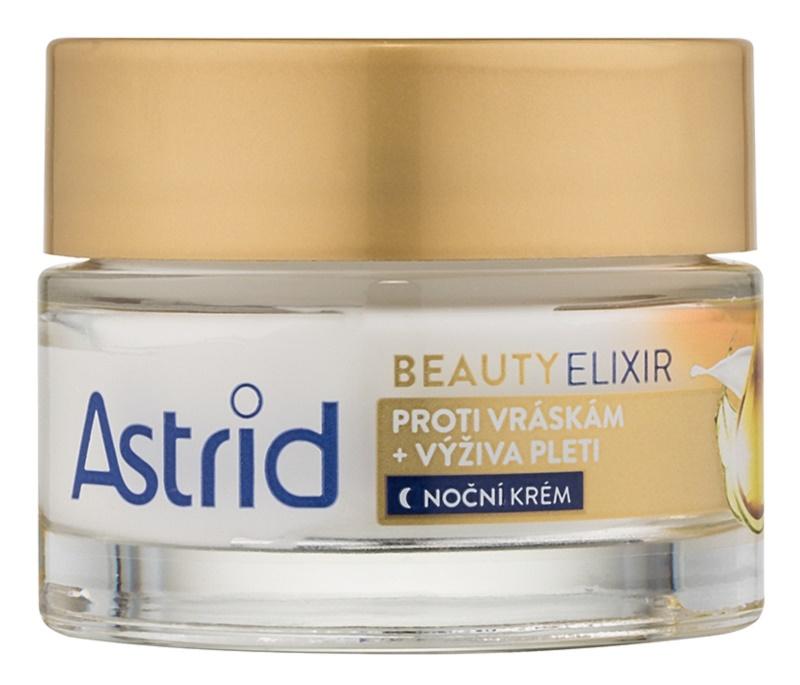 Astrid Beauty Elixir hranilna nočna krema proti gubam