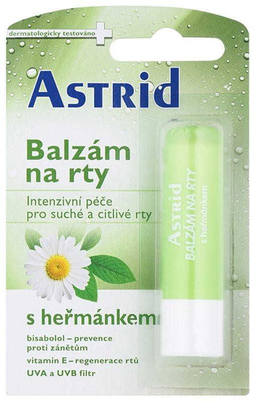 Astrid Lip Care kamillás balzsam a száraz és érzékeny ajkakra regeneráló hatással