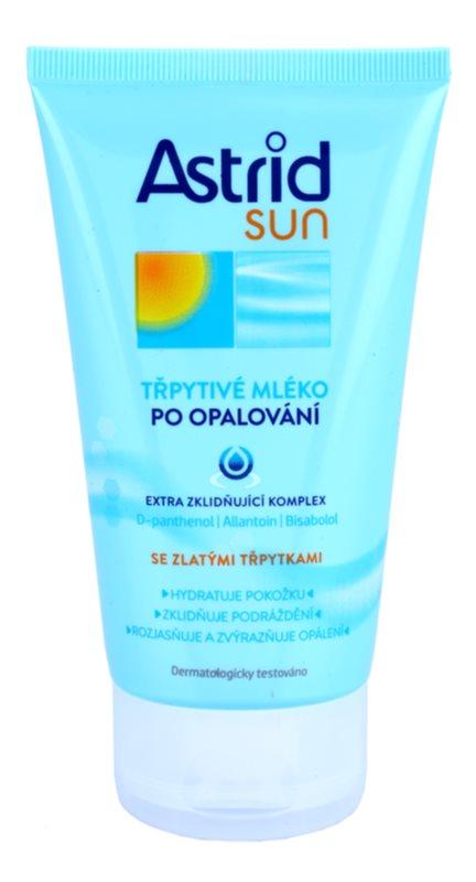 Astrid Sun lapte de corp cu particole stralucitoare dupa expunerea la soare