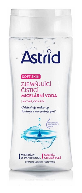 Astrid Soft Skin Verzachtende reinigings Micellair water