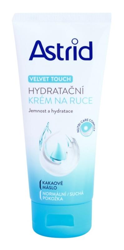 Astrid Velvet Touch crème hydratante mains pour peaux normales et sèches