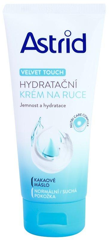 Astrid Velvet Touch feuchtigkeitsspendende Creme für die Hände für normale und trockene Haut