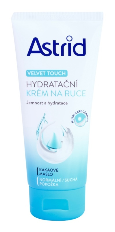 Astrid Velvet Touch зволожуючий крем для рук для нормальної та сухої шкіри