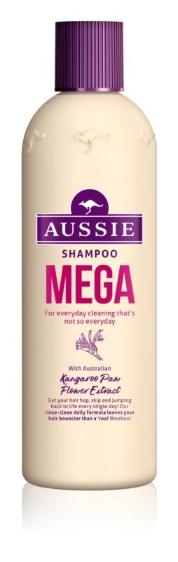 Aussie Mega champô para lavagem diária dos cabelos