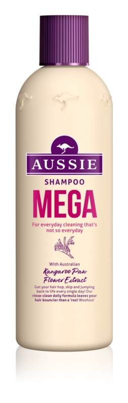 Aussie Mega Sampon de curatare zi de zi.