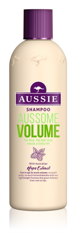 Aussie Aussome Volume Sampon finom, lesimuló hajra