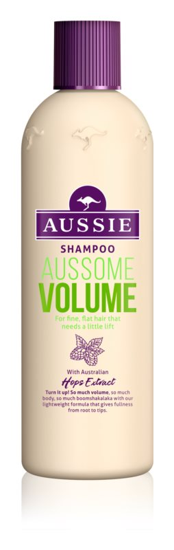 aussie aussome volume shampoo f r feines und schlaffes. Black Bedroom Furniture Sets. Home Design Ideas