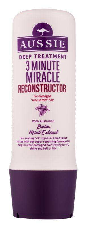 Aussie Repair Miracle Dogłębna 3-minutowa odżywka do włosów zniszczonych