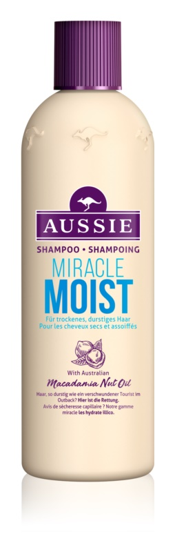 Aussie Miracle Moist Shampoo for Dry and Damaged Hair