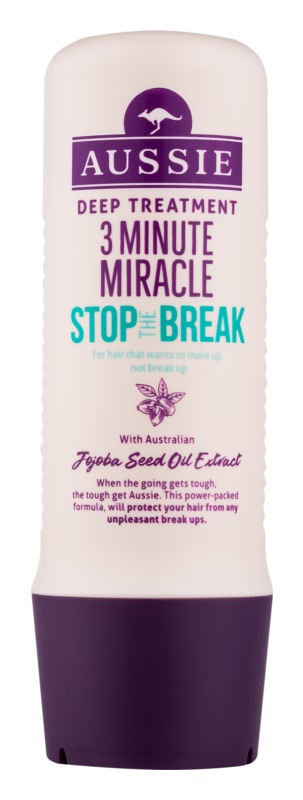 Aussie Stop The Break máscara de 3 minutos antiquebra de cabelo