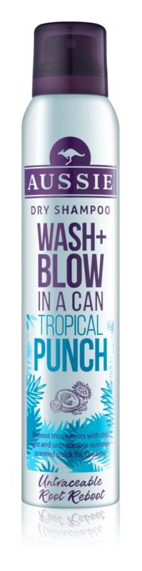Aussie Wash+ Blow Tropical Punch suchý šampon