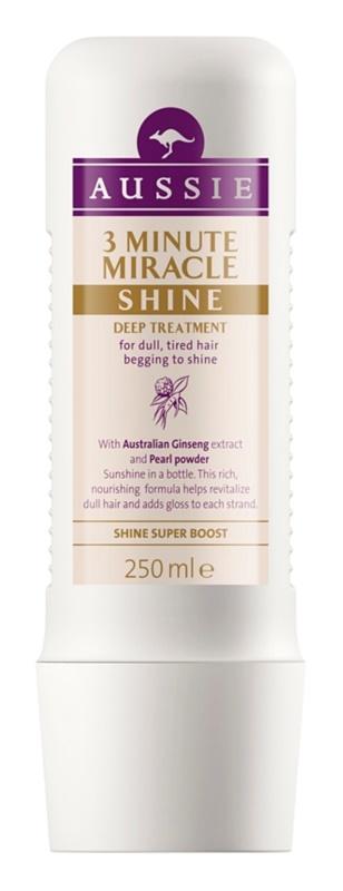 Aussie Miracle Shine mască 3 minute pentru păr tern și obosit