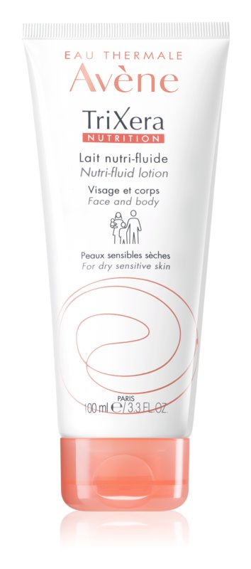 Avène TriXera Nutrition Face and Body Nourishing Fluid Lotion  For Dry and Sensitive Skin