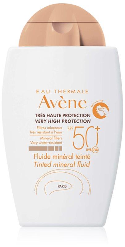 Avène Sun Minéral fluid tonifiant de protecție fără filtre chimice SPF 50+