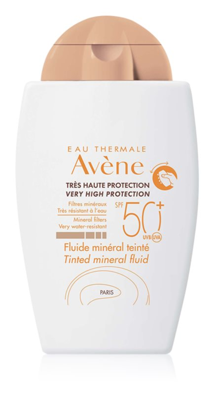 Avène Sun Mineral fluido protetor com cor sem filtros químicos SPF 50+