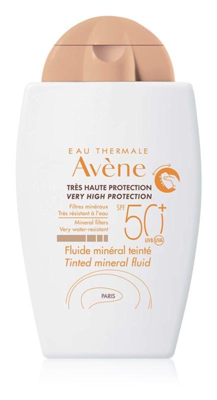 Avène Sun Minéral zaščitni toniran fluid brez kemičnih filtrov SPF 50+