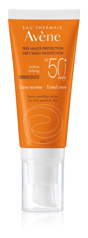Avène Sun Sensitive προστατευτικό υγρό με χρώμα για ξηρή και ευαίσθητη επιδερμίδα SPF 50+