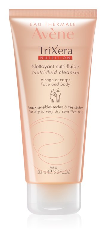 Avène TriXera Nutrition очищуючий гель для обличчя та тіла
