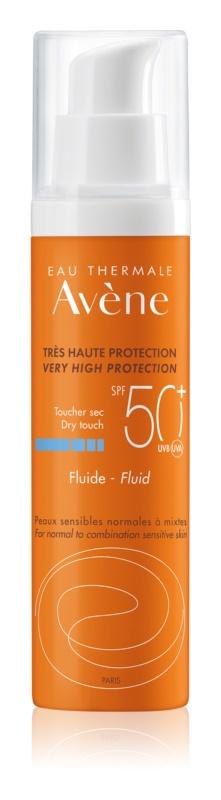 Avène Sun Sensitive fluid ochronny dla skóry normalnej i mieszanej SPF50+