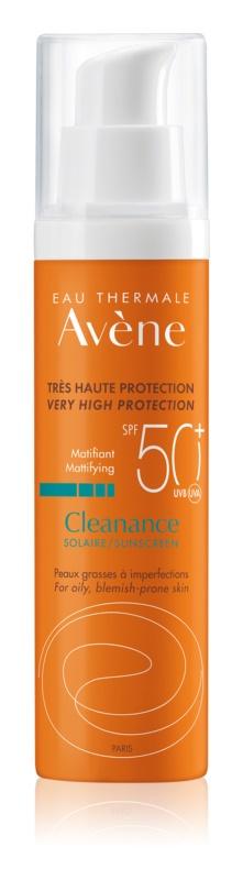 Avène Cleanance Solaire матуючий захисний догляд для шкіри зі схильністю до акне SPF 50+