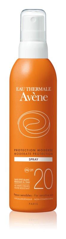 Avène Sun Sensitive spray pentru bronzat SPF 20