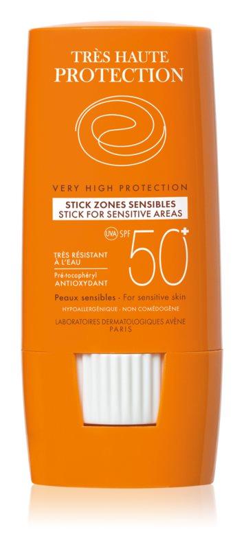 Avène Sun Sensitive adera pe zonele sensibile SPF 50+