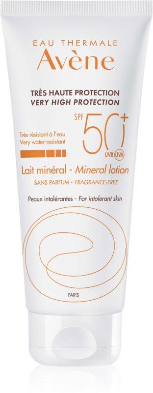Avène Sun Minéral parfümfreie schützende Lotion ohne chemische Filter SPF 50+