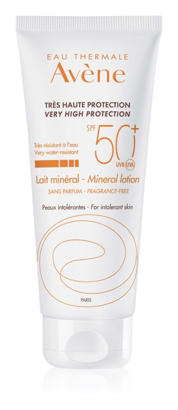 Avène Sun Mineral parfümfreie schützende Lotion ohne chemische Filter SPF50+