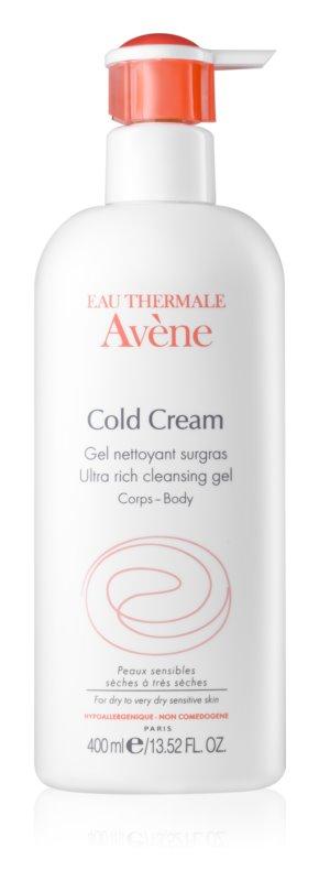 Avène Cold Cream gel nettoyant détoxifiant pour peaux très sèches