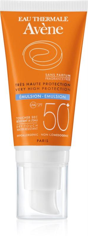 Avène Sun Sensitive emulzia na opaľovanie bez parfumácie SPF 50+