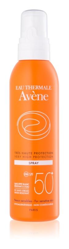 Avène Sun Sensitive napozó spray SPF50+