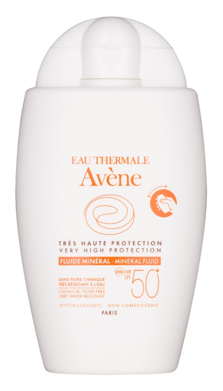 Avène Sun Mineral Sunscreen Fluid without Chemical Filters SPF 50+