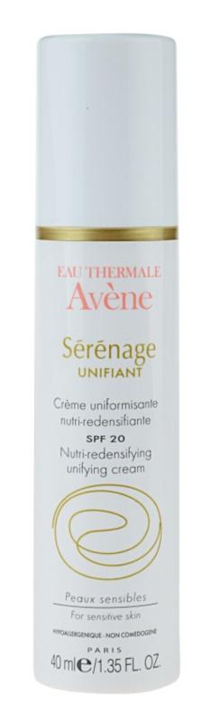 Avène Sérénage nappali tápláló krém, mely egységesíti a tónusokat érett bőrre