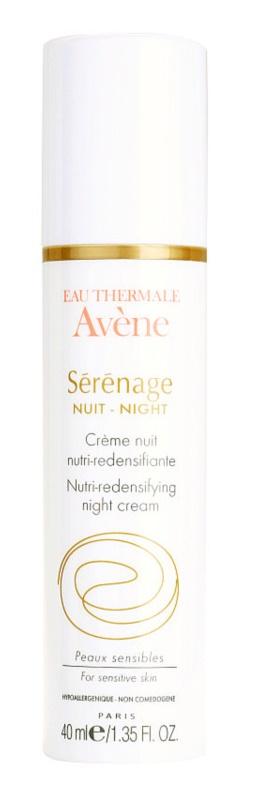Avène Sérénage crema de noapte pentru contur pentru ten matur