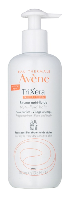 Avène TriXera Nutrition Intense Nourishing Fluid Balm for Face and Body Fragrance-Free