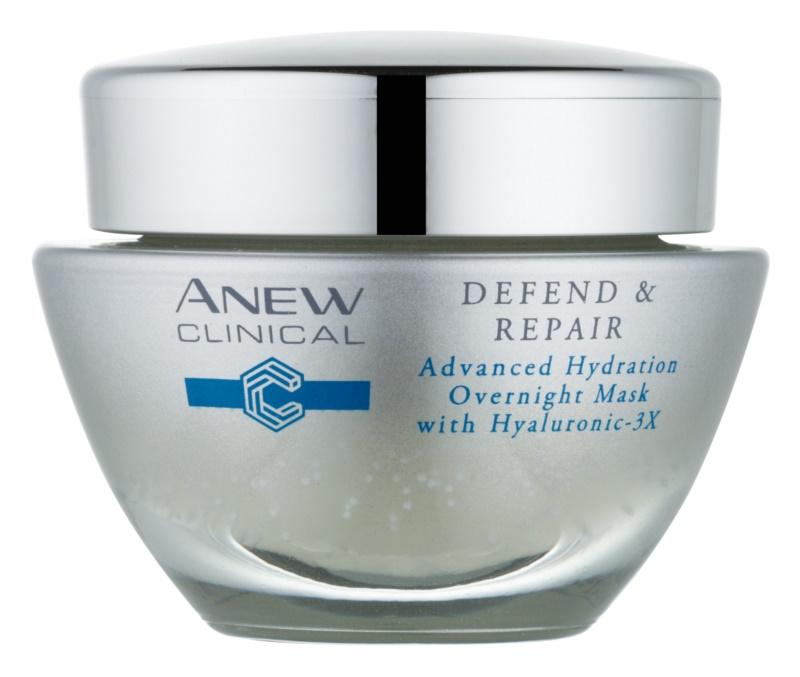 Avon Anew Clinical зволожуюча нічна  маска з відновлюючим ефектом
