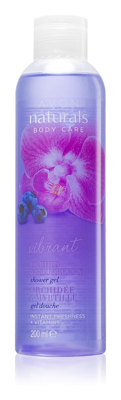Avon Naturals Body tusfürdő gél orchideával és áfonyával