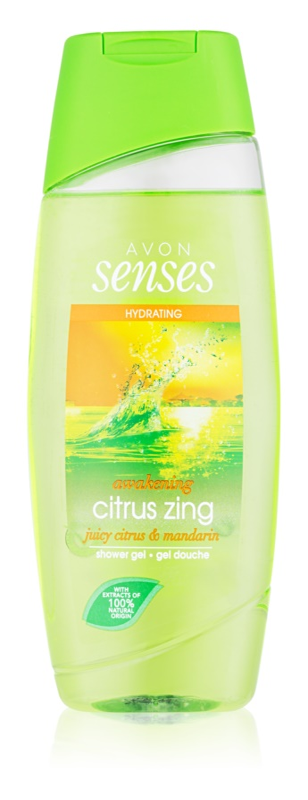 Avon Senses Awakening Citrus Zing hidratantni gel za tuširanje