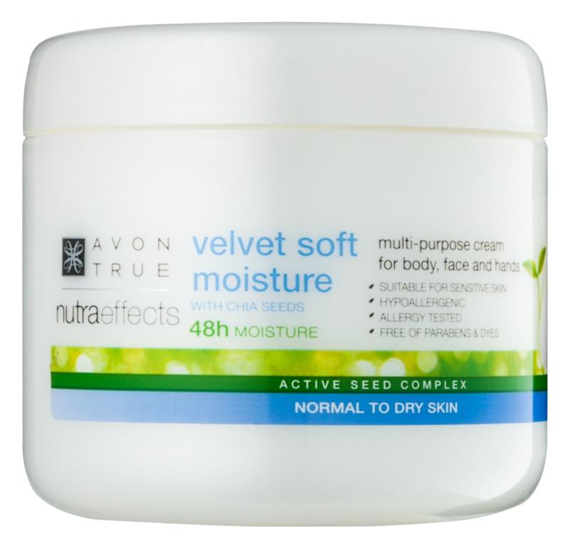Avon True NutraEffects zjemňující hydratační krém na obličej a tělo