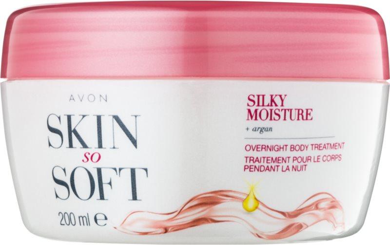 Avon Skin So Soft Silky Moisture noční tělový krém